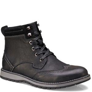 Members Only Men's Black Legacy Wingtip Boot
